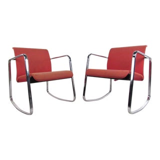 Herman Miller Rocking Chairs by Peter Protzmann - a Pair For Sale