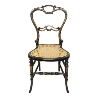 Late 19th Century French Canned Mother of Pearl Inlaid Chair For Sale