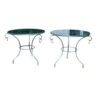 Pair of French Gueridon Sidetables