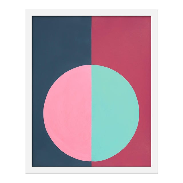 "Small ""Pink and Blue Forever"" Print by Stephanie Henderson, 16"" X 20"" For Sale"
