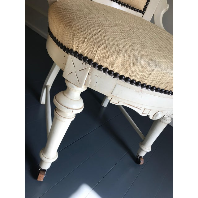 Cottage 1970s Vintage Carved Cottage Chairs- A Pair For Sale - Image 3 of 4