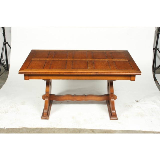 C.1940 Belgian Trestle Dining Table For Sale - Image 9 of 9