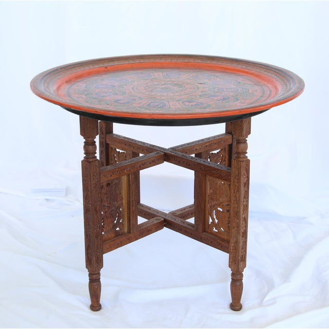 1960s Indian Tray Table For Sale In Los Angeles - Image 6 of 6