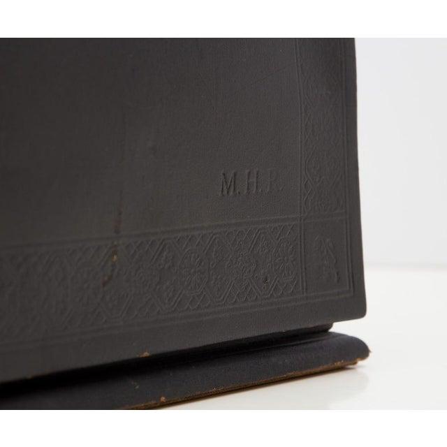 Edwardian Antique Leather Desk Stationery Letter Organizer For Sale - Image 3 of 8