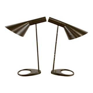 Mid-Century Modern Arne Jacobsen for Louis Poulsen Metal Lamp (1) For Sale
