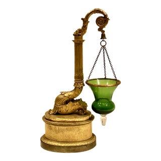 Antique Early 19th Century Veilleuse Lamp a Huile en Bronze For Sale