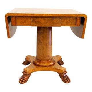 Early 19th Century Biedermeier Drop Leaf Table For Sale