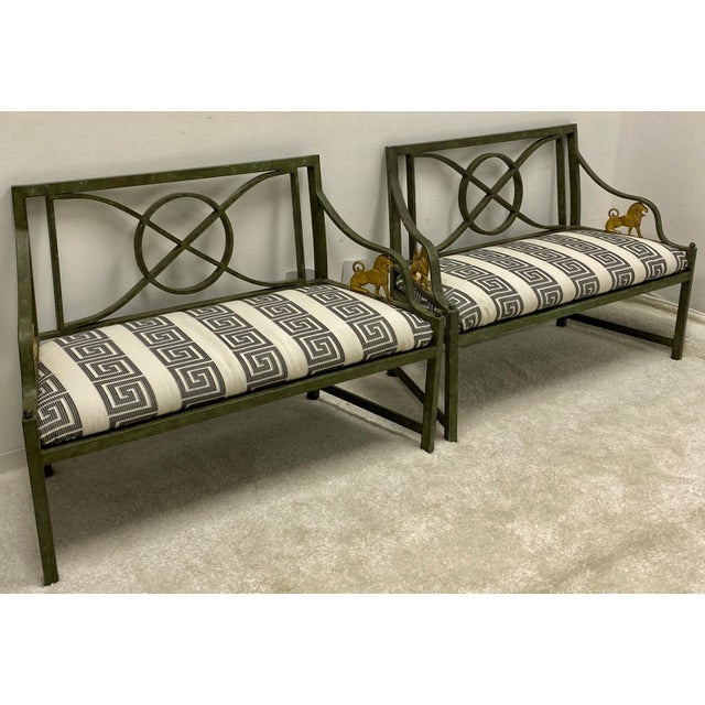 Pair of Neo-Classical Style Benches / Settees For Sale - Image 10 of 12