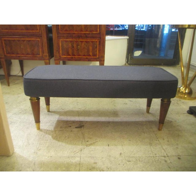 Italian Pair of Italian Mid-Century Modern Upholstered Benches For Sale - Image 3 of 6