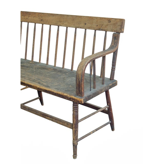 Wood Deacons Bench For Sale - Image 7 of 11