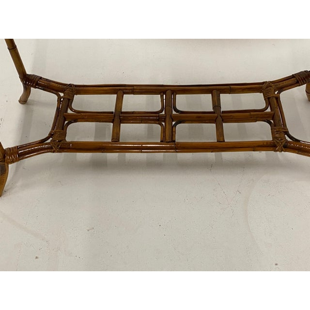 Contemporary Organic Modern Bamboo and Rattan Console For Sale - Image 3 of 12