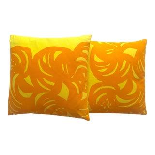 Marimekko Rare Vintage 1960's Mid Century Scandinavian Modern Throw Pillows - a Pair For Sale