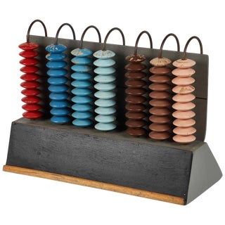 Mid-Century Multicolor Abacus From France For Sale