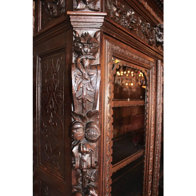 Early 20th Century French Hunt Style Bookcase For Sale In Los Angeles - Image 6 of 8