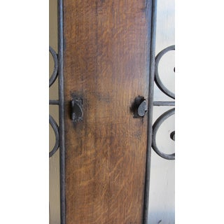 Circa 1860 Antique Wrought Iron & Wood Hanging Window Preview