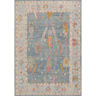 Pasargad Home Turkish Oushak Wool Rug -10′ × 14′2″ For Sale