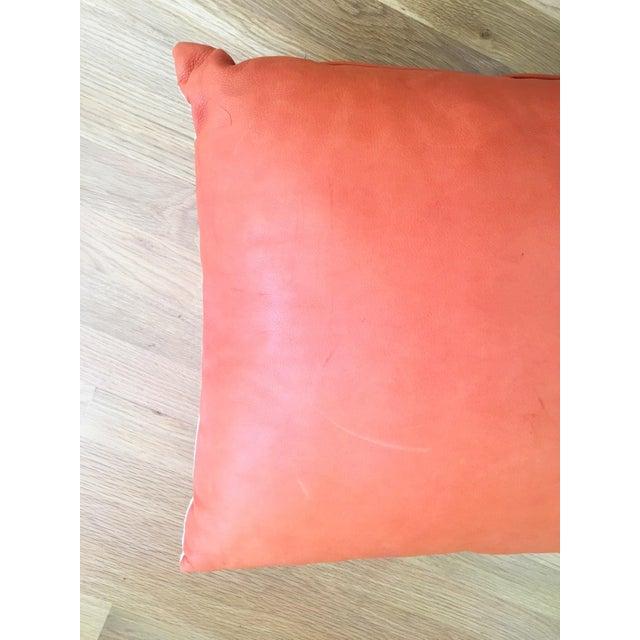 Orange Cowhide Pillow - Image 4 of 6