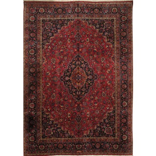 Pasargad DC Persian Mashad Hand Knotted Rug - 11′3″ × 16′1″ For Sale