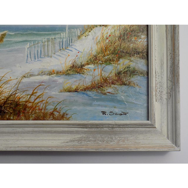 Realism Dune Seascape Painting by R. Scott For Sale - Image 3 of 5