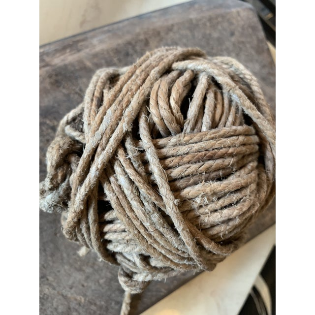 Rustic Antique Twine Ball For Sale - Image 3 of 5