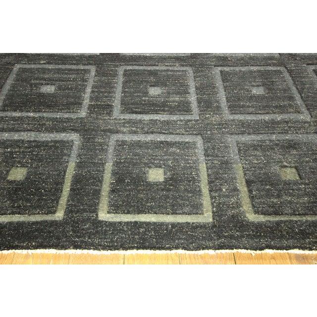 "Square Black Gabbeh Kashkuli Rug - 6'8"" x 10' - Image 5 of 10"