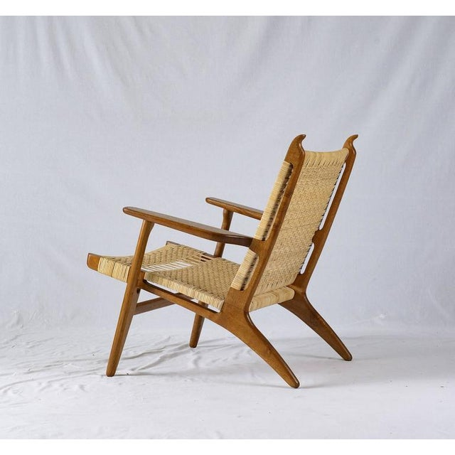Hans Wegner CH-27 Lounge Chair For Sale - Image 4 of 10