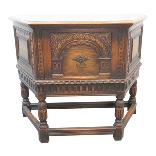 Kittinger Jacobean Carved Oak Server For Sale