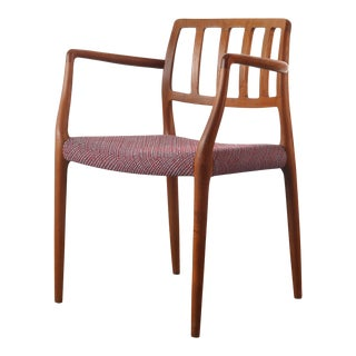 Niels Otto Møller Model 66 Chair for J.L. Mollers in Knoll Fabric, Denmark For Sale