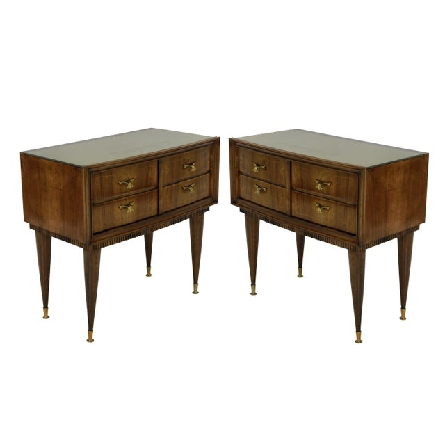 A Pair of Italian Mid Century Night Stands For Sale - Image 6 of 6