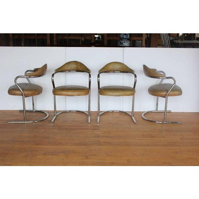 Stylish 1950's Chrome Armchairs