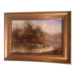 British Oil Painting by William Henry Mander(1850-1922) For Sale