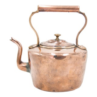 Antique English Copper Tea Kettle For Sale
