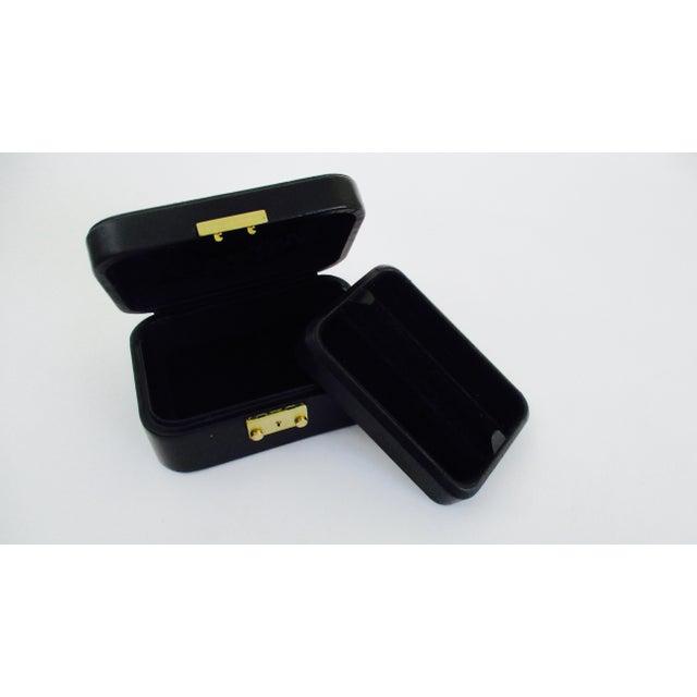 0e7930485 Black Tiffany & Co. Black Leather Jewelry Box Case For Sale - Image 8 of