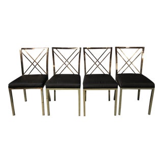 Contemporary Chrome Side Chairs - Set of 4