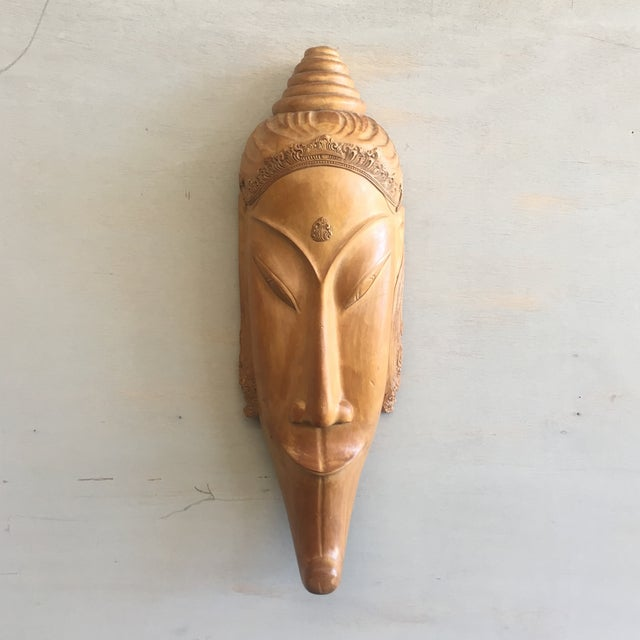 Southeast Asian Hand Carved Tribal Mask - Image 2 of 11