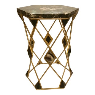 Modern Sherrill Occasional Hex Spot Table For Sale