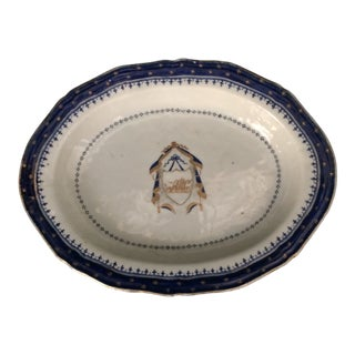 "Chinese Export Dish, Made for the Early American ""Chew"" Family of Philadelphia & Annapolis For Sale"