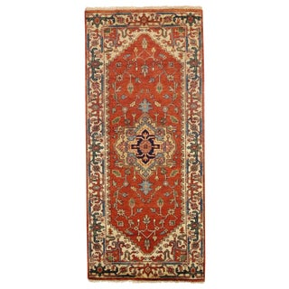 """Traditional Pasargad N Y Serapi Design Hand-Knotted Rug - 2'8"""" X 6'1"""" For Sale"""