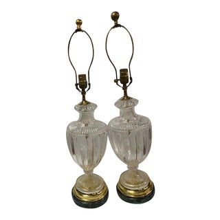 """""""Chelsea House"""" Pair of Vintage Crystal Table Lamps ***Final Price Reduction** For Sale"""
