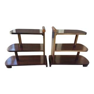 Art Deco Streamline Tables - A Pair
