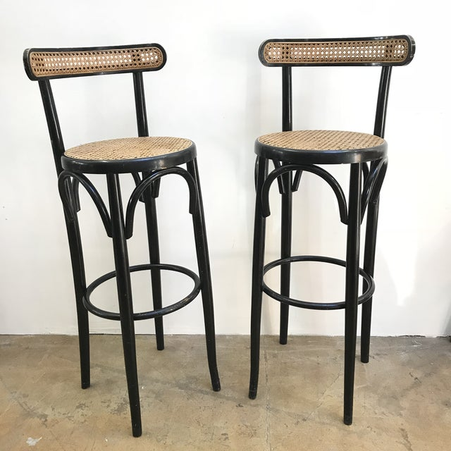 Astounding Thonet Style Bentwood Bar Stools Chairish Dailytribune Chair Design For Home Dailytribuneorg