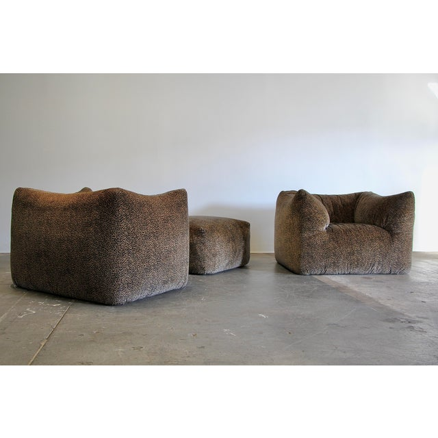 Pair of Mario Bellini 'Le Bambole' Lounge Chairs and matching ottoman for B&B Italia, 1970's. Set has been reupholstered...
