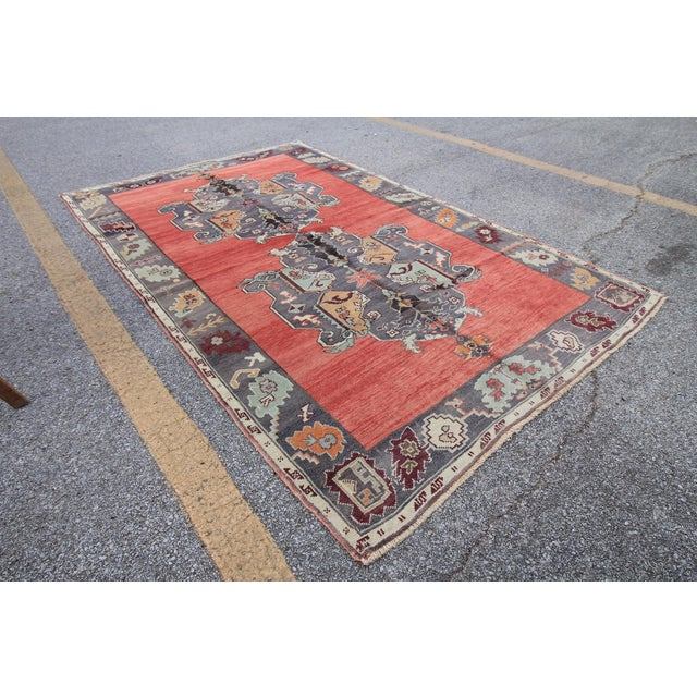 Islamic Tribal Antique Turkish Oushak Hand Knotted Rug - 5'1 X 8'2 For Sale - Image 3 of 6
