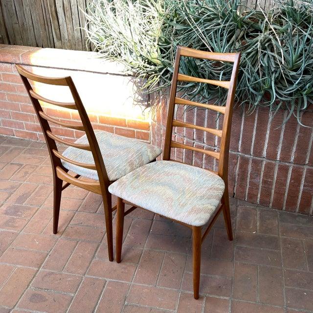 Danish Modern Koefoeds Hornslet Teak Ladder-Back Dining Chairs - Set of 8 For Sale - Image 10 of 13