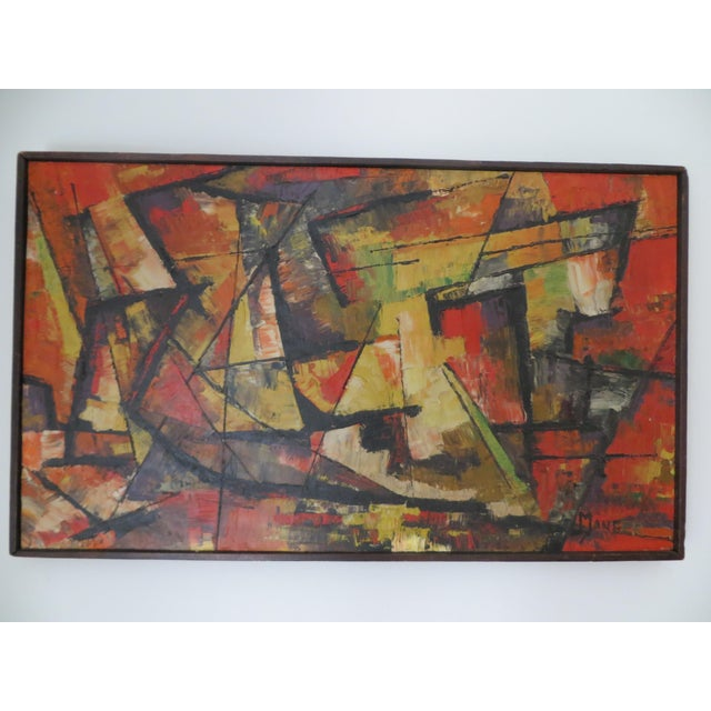 20th Century Abstract Painting by Manger For Sale - Image 5 of 5