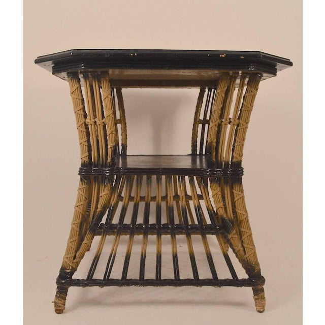 Art Deco Wicker Table For Sale - Image 4 of 8