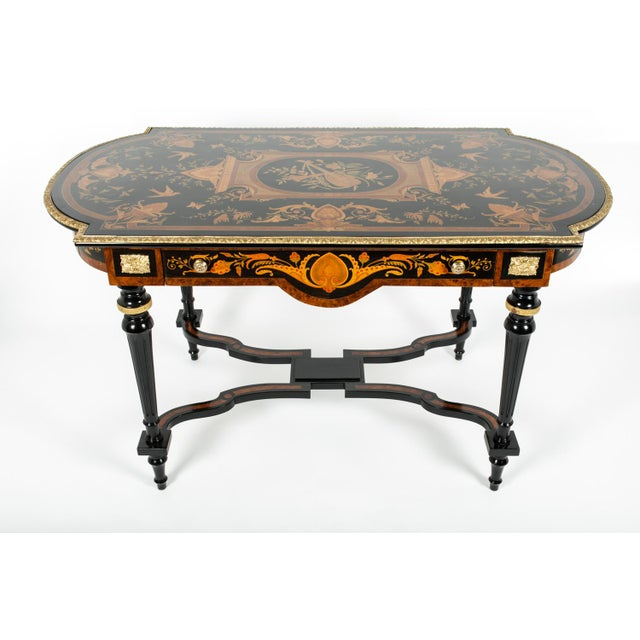 Exquisite 19th century Boulle style center table with bronze mounted . Just beautiful. Excellent condition. The center...