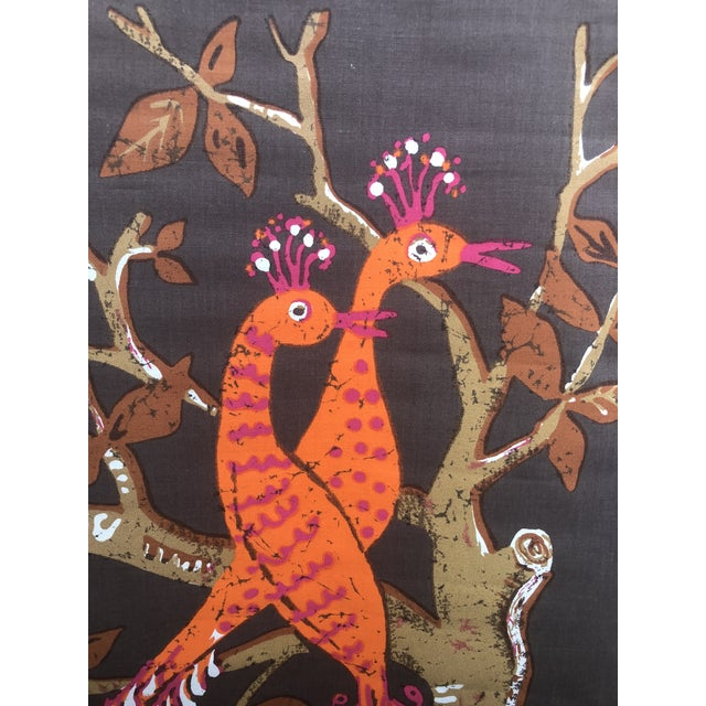 1960s Vintage Swedish Ulla Margareta Littorin/Uml Peacock Tapestry For Sale - Image 6 of 11