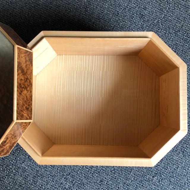 Burled Walnut & Sycamore Box - Image 2 of 7