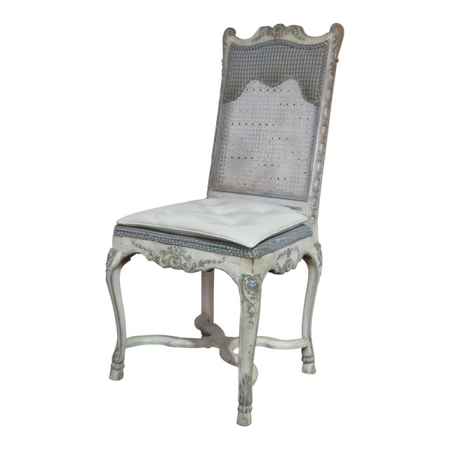 Swedish Rococo Style Desk Chair For Sale
